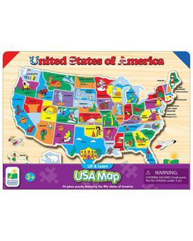商品Lift & Learn USA Map Puzzle图片