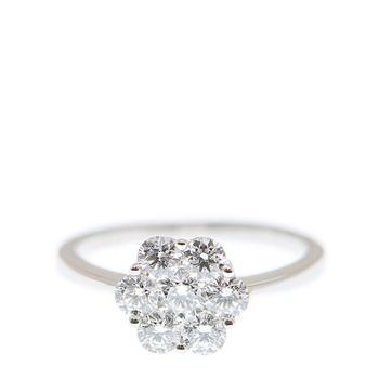 商品New J Collection Ring 7 Rddi 1.10 Ct 18kw 3.24gm 18kt White Gold Silver图片