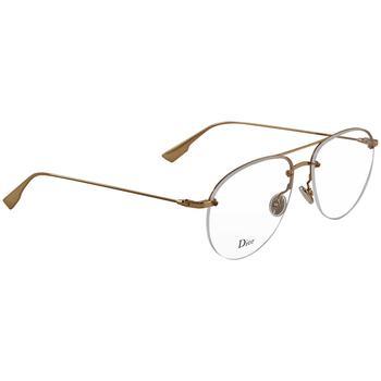商品男女款 STELLAIREO11 防紫外线金边方形半框平光眼镜图片