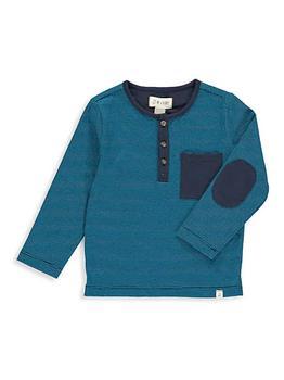 商品Little Boy's Long-Sleeve Henley Shirt图片