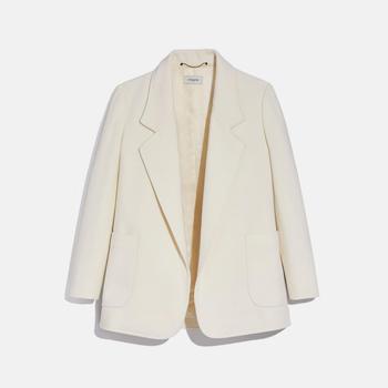 商品COACH Open Front Wool Blazer图片