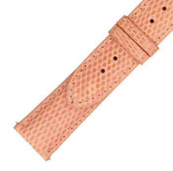 商品Hadley Roma 21 MM Shiny Pink Lizard Leather Strap图片