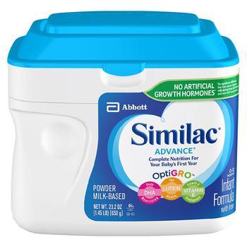 商品Similac Complete Nutrition 婴儿配方奶粉1段 658g图片
