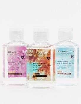 商品Revolution Hand Cleansing Anti-Bacterial Gel 60ml x 3 Pack图片