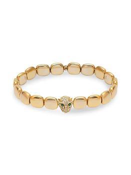 商品22K Gold Vermeil & Cubic Zirconia Panther Chiclet Bracelet图片