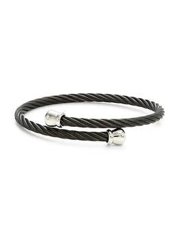 商品18K White Gold & Stainless Steel Cuff Bracelet图片