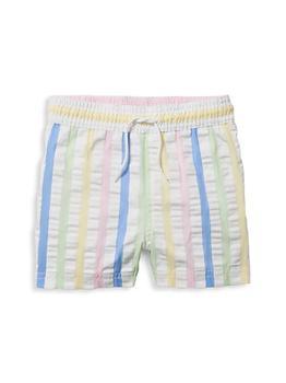 商品Baby's, Little Boy's & Boy's Striped Seersucker Swim Trunks图片