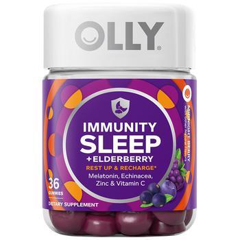 商品 OLLY褪黑色素软糖安瓶助眠36粒免疫修复睡眠维生素接骨木莓图片