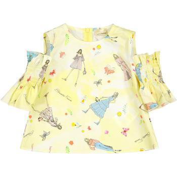 商品ELISABETTA FRANCHI KIDS - Casual Dress, Yellow, Girl, 6 yrs图片
