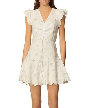商品Embroidered Mesh Detail Dress图片