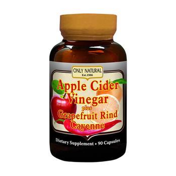 商品Only Natural Apple Cider Vinegar Plus Grapefruit Rind And Cayenne Capsules - 90 Ea图片