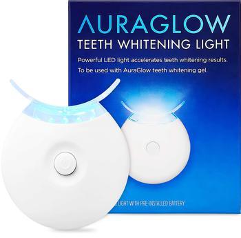 商品AuraGlow Teeth Whitening Accelerator Light, 5X More Powerful Blue LED Light, Whiten Teeth Faster图片