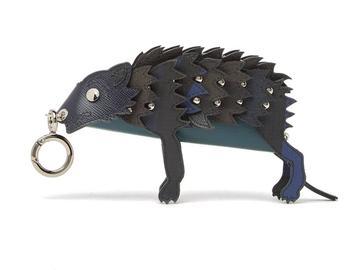 商品Burberry Wolf Leather Key Ring Coin Pouch图片