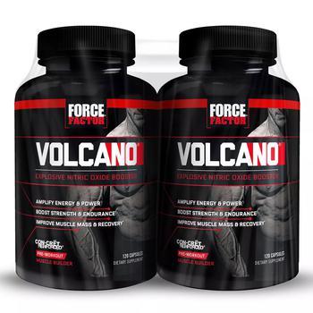 商品Force Factor VolcaNO Nitric Oxide Booster (120 ct., 2 pk.)图片