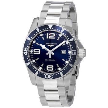 商品Longines HydroConquest Blue Dial Stainless Steel Mens 44mm Watch L38404966图片
