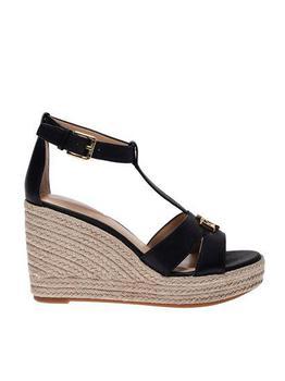 商品Lauren Ralph Lauren Ankle Strap Wedges - US8.5 / Black图片