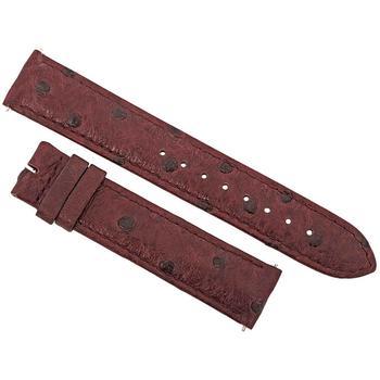 商品Hadley Roma Matte Bordeaux Ostrich Leather Strap图片