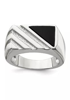 商品Men's Sterling Silver Onyx Ring图片