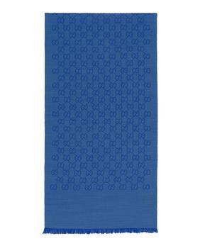 商品 Gucci带logo羊毛真丝丝巾图片