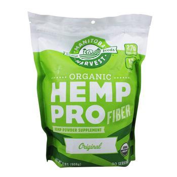 商品Manitoba Harvest Organic Hemp Pro Fiber Plus Plant Based Protein Supplement Powder, 32 Oz图片