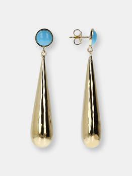 商品Hammered Turquoise Gemstone Earrings图片