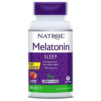 商品Melatonin 5MG Fast Dissolve Tablets Strawberry图片