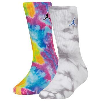 商品Jordan Tie Die 2 Pack Socks - Boys' Grade School图片