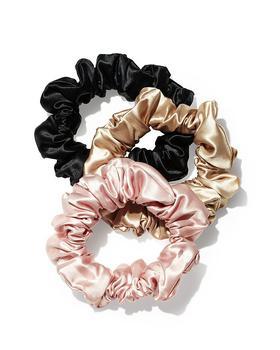 商品Pure Silk 3-Pack Large Scrunchies图片