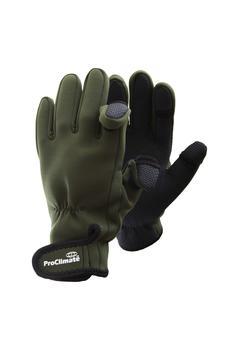 商品Mens Neoprene Fishing Gloves (Lightweight Waterproof) (Green)图片