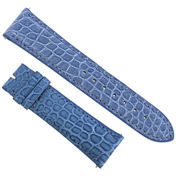 商品Hadley Roma 21 MM Matte Blue Alligator Leather Strap图片