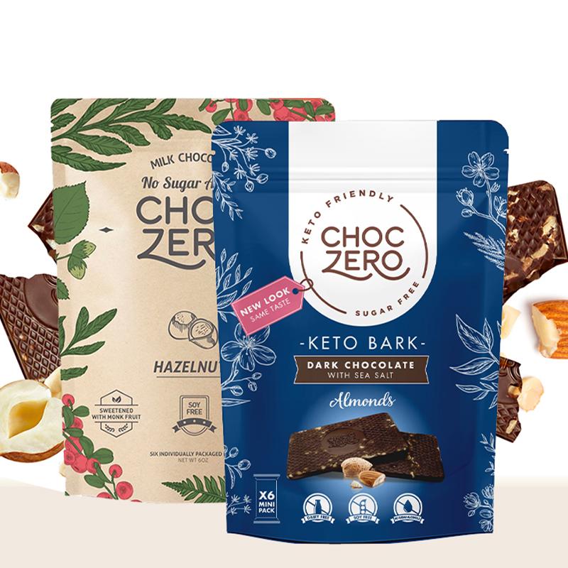 商品零巧果仁排块系列组合装170g*2包装 榛果牛奶巧克力海盐杏仁黑巧克力排块图片
