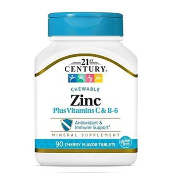 商品21st Century Zinc Chewable with C and B6, Cherry Chewables, 90 Ea图片