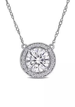 商品2.25 ct. t.w. Lab Created Moissanite Circle Necklace in 14K White Gold图片