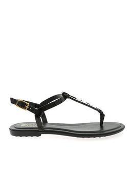 商品Tod's Chain Link T-Bar Sandals - EU36 / Black图片