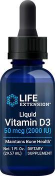 商品Life Extension Liquid Vitamin D3, 2000 IU, 29 - 50 mcg, 57 ml图片