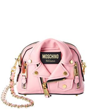 商品Moschino Biker Jacket Leather Crossbody图片