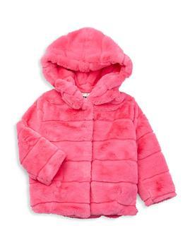 商品Little Girl's & Girl's Faux Fur Goldie Coat图片