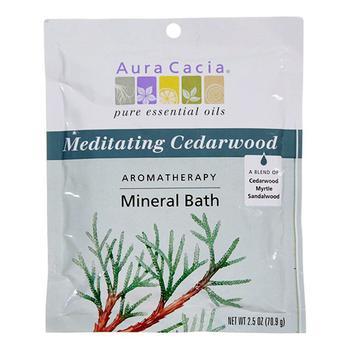 商品Aura Cacia Aromatherapy Mineral Bath, Meditating Cedarwood - 2.5 Oz图片