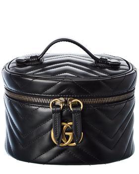 商品Gucci Gg Marmont Leather Cosmetic Case图片