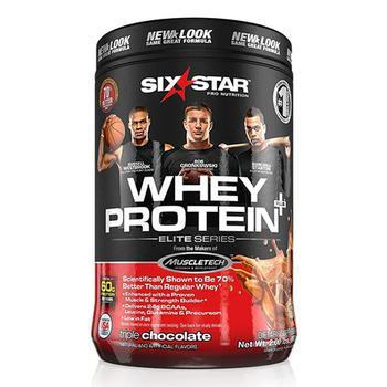 商品Six Star Pro Nutrition Whey Protein Powder Elite Series, Triple Chocolate - 2 lbs图片