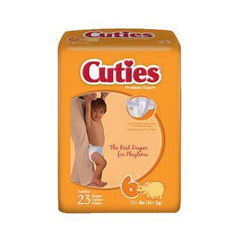 商品Cuties Premium Baby Diapers, Size 6 - 23 Ea, 4 Pack图片