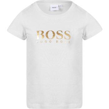 商品BOSS KIDS - Short Sleeve T-Shirt, White, Girl, 12 yrs图片