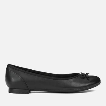商品Clarks 女士平底芭蕾鞋 - 黑色图片