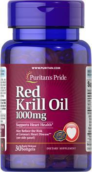 商品Red Krill Oil 1000 mg 30 Softgels图片