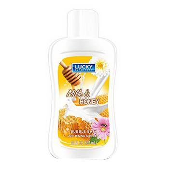 商品Lucky Super Soft Bubble Bath Softening Bubbles, Milk and Honey, 20 Oz图片