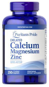 商品Chelated Calcium Magnesium Zinc 250 Caplets图片