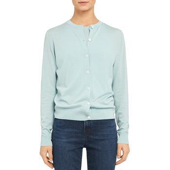 商品Theory Womens Wool Cropped Cardigan Sweater图片