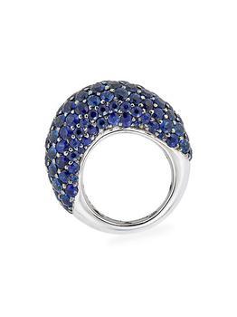 商品Mosaique 18K Two-Tone Gold & Blue Sapphire Dome Ring图片