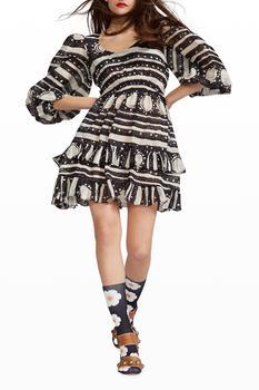 商品Sicily Smocked-Waist Dress图片