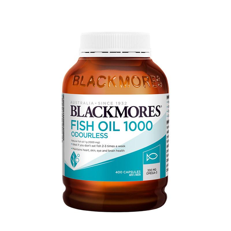 商品Blackmores澳佳宝无腥味深海鱼油软胶囊400粒图片